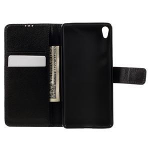 Leathy PU kožené puzdro na Sony Xperia E5 - čierne - 6