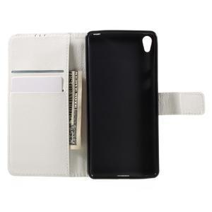 Leathy PU kožené puzdro na Sony Xperia E5 - biele - 6