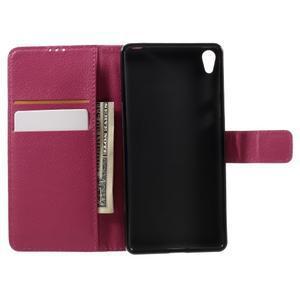 Leathy PU kožené puzdro na Sony Xperia E5 - rose - 6
