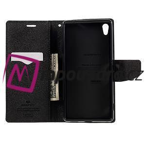 Diary PU kožené puzdro pre mobil Sony Xperia XA Ultra - čierne - 6