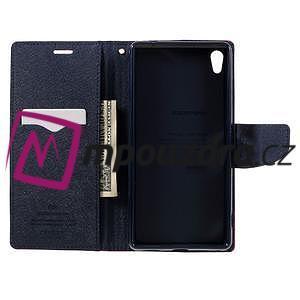 Diary PU kožené puzdro pre mobil Sony Xperia XA Ultra - červené - 6