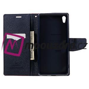 Diary PU kožené puzdro pre mobil Sony Xperia XA Ultra - rose - 6