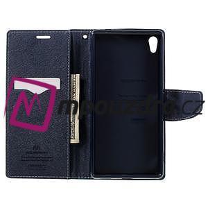 Diary PU kožené puzdro pre mobil Sony Xperia XA Ultra - azurové - 6