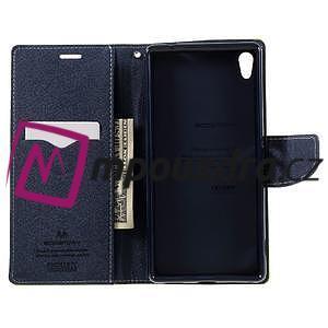 Diary PU kožené puzdro pre mobil Sony Xperia XA Ultra - zelené - 6