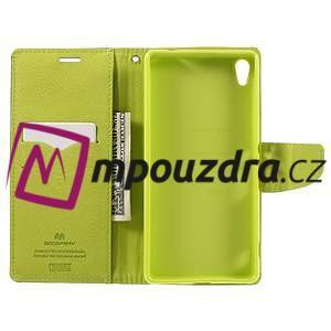 Diary PU kožené puzdro pre mobil Sony Xperia XA Ultra - tmavomodré - 6