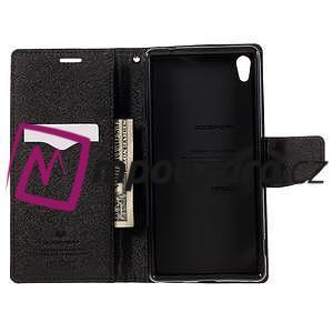 Diary PU kožené puzdro pre mobil Sony Xperia XA Ultra - hnedé - 6