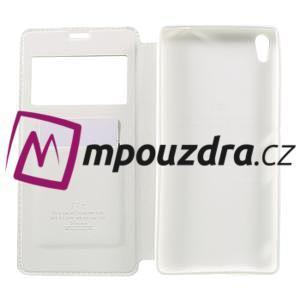 Richi PU kožené pouzdro s okýnkem na Sony Xperia XA Ultra - bílé - 6