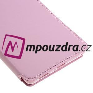 Richi PU kožené puzdro s okienkom na Sony Xperia XA Ultra - ružové - 6