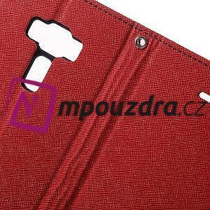 Diary PU kožené pouzdro na mobil Asus Zenfone 3 Deluxe - červené - 6