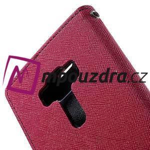 Diary PU kožené puzdro pre mobil Asus Zenfone 3 Deluxe - rose - 6