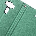 Diary PU kožené pouzdro na mobil Asus Zenfone 3 Deluxe - azurové - 6/7