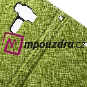 Diary PU kožené puzdro pre mobil Asus Zenfone 3 Deluxe - zelené - 6