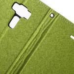 Diary PU kožené puzdro pre mobil Asus Zenfone 3 Deluxe - zelené - 6/7