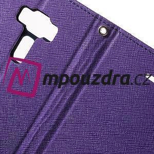 Diary PU kožené puzdro pre mobil Asus Zenfone 3 Deluxe - fialové - 6