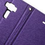 Diary PU kožené puzdro pre mobil Asus Zenfone 3 Deluxe - fialové - 6/7