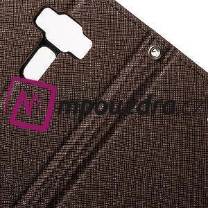 Diary PU kožené puzdro pre mobil Asus Zenfone 3 Deluxe - hnedé - 6
