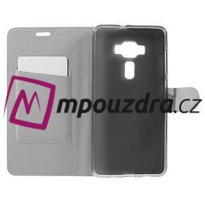Horse PU kožené puzdro pre Asus Zenfone 3 Deluxe - biele - 6