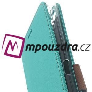 Diary peňaženkové pouzdro na mobil Asus Zenfone 3 Ultra - cyan - 6