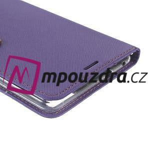Diary peňaženkové puzdro pre mobil Asus Zenfone 3 Ultra - fialové - 6