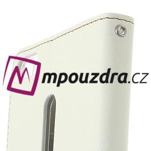 Diary peňaženkové puzdro pre mobil Asus Zenfone 3 Ultra - biele - 6