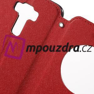 Diary puzdro s okýnkem na mobil Asus Zenfone 3 ZE520KL - červené - 6