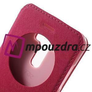 Diary puzdro s okýnkem na mobil Asus Zenfone 3 ZE520KL - rose - 6