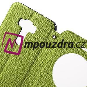Diary puzdro s okýnkem na mobil Asus Zenfone 3 ZE520KL - zelené - 6