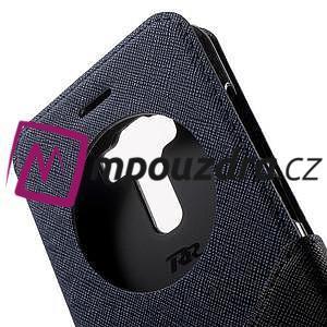Diary puzdro s okýnkem na mobil Asus Zenfone 3 ZE520KL - tmavěmodré - 6