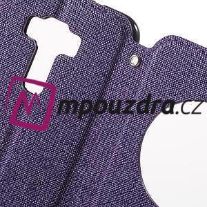 Diary puzdro s okýnkem na mobil Asus Zenfone 3 ZE520KL - fialové - 6