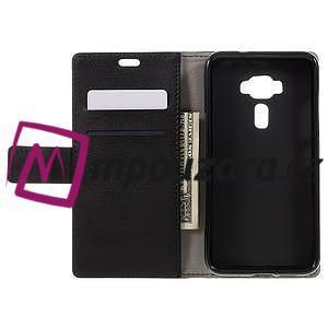 Leathy peňaženkové puzdro na Asus Zenfone 3 ZE520KL - čierne - 6