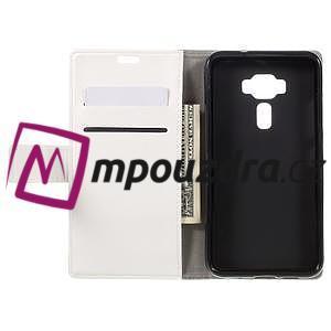 Leathy peňaženkové puzdro na Asus Zenfone 3 ZE520KL - biele - 6