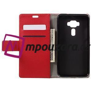 Leathy peňaženkové puzdro pre Asus Zenfone 3 ZE520KL - červené - 6