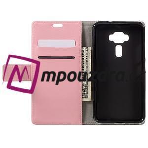 Leathy peňaženkové puzdro na Asus Zenfone 3 ZE520KL - růžové - 6