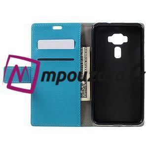 Leathy peňaženkové puzdro pre Asus Zenfone 3 ZE520KL - svetlomodré - 6