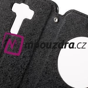 Diary puzdro s okýnkem na mobil Asus Zenfone 3 ZE520KL - čierne - 6