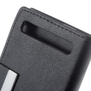 Peňaženkové puzdro pre mobil BlackBerry Classic - čierné - 6