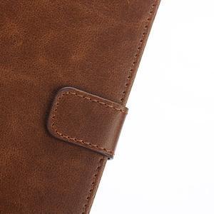PU kožené peněženkové pouzdro na BlackBerry Leap - coffee - 6