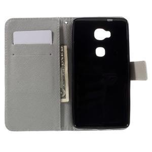 PU kožené pouzdro na mobil Honor 5X - motýl - 6