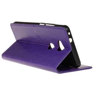Horse Peňaženkové koženkové puzdro pre Huawei Honor 5X - fialové - 6