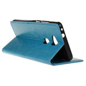 Horse peněženkové koženkové pouzdro na Huawei Honor 5X - modré - 6