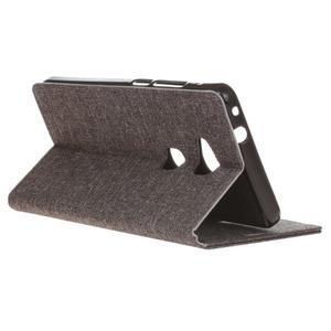 Textilné/koženkové puzdro pre Honor 5X - šedé - 6