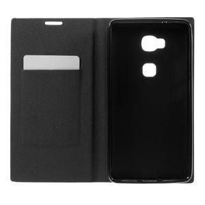 Klopové PU kožené puzdro pre Huawei Honor 5X - čierne - 6