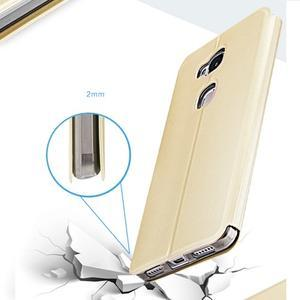 Vintage pouzdro na mobil Honor 5X - zlaté - 6