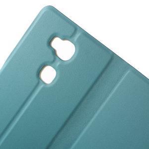 Peňaženkové PU kožené puzdro pre mobil Honor 5X - modré - 6