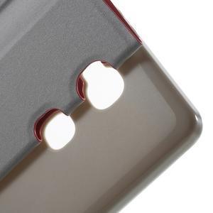 Peňaženkové PU kožené puzdro pre mobil Honor 5X - červené - 6