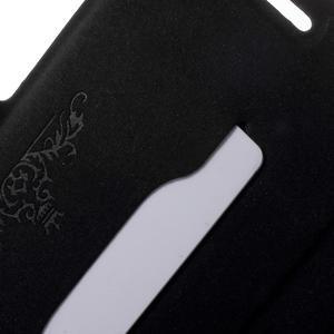 Peněženkové PU kožené pouzdro na mobil Honor 5X - černé - 6