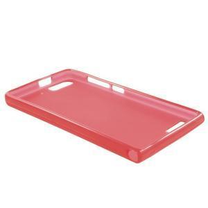 Matné gélové puzdro na Huawei Ascned G6 - červené - 6
