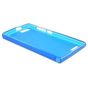 Matné gélové puzdro na Huawei Ascned G6 - modré - 6