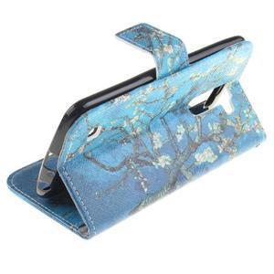 Peňaženkové puzdro pre mobil LG K10 - kvitnúce strom - 6