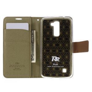 Style PU kožené pouzdro pro LG K10 - khaki - 6